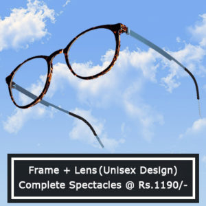 Complete Spectacles @ Rs. 1190/-