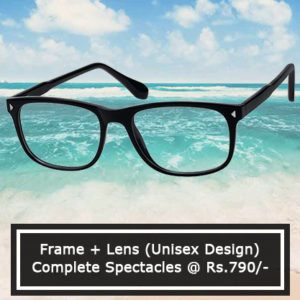 Complete Spectacles @ Rs. 790/-