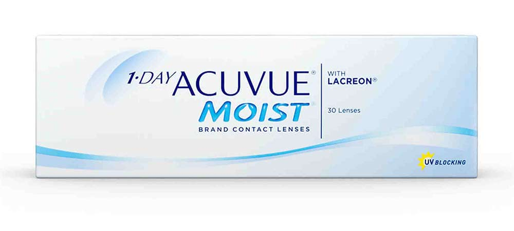acuvue 1 day moist contact lens